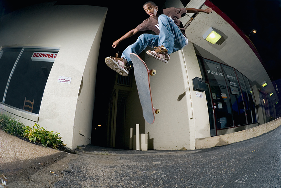Myquell Haddox, 360 Flip, Nashville, TN. Photo by Phil Blair