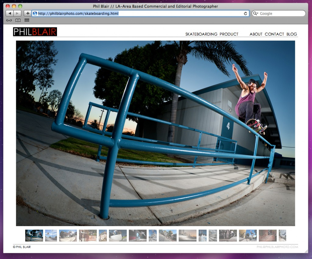 screen shot of the all new PhilBlairPhoto.com