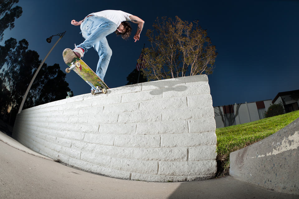 Heath Clark, Frontside Noseslide, Photo by Phil Blair